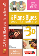 200 plans blues pour la guitare en 3D