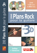 200 plans rock pour la guitare en 3D